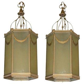 1920s Lanterns - A Pair For Sale