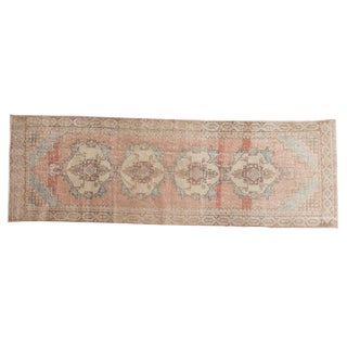"Vintage Distressed Oushak Rug Runner - 2'11"" x 8'11"""