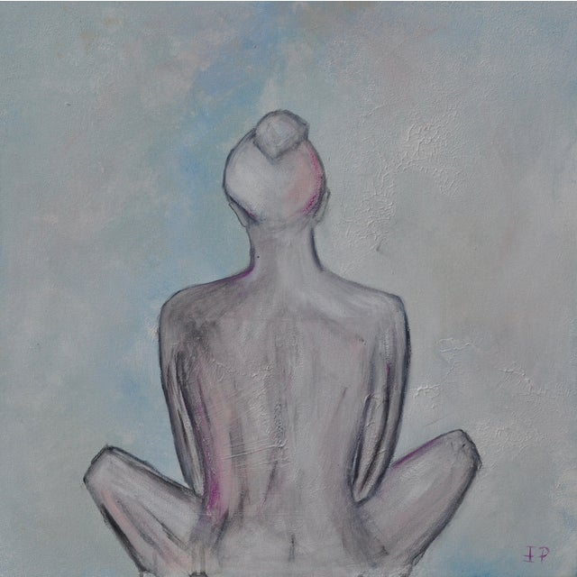 """Airy Nude"" Original Signed Female Figure Painting - Image 5 of 5"