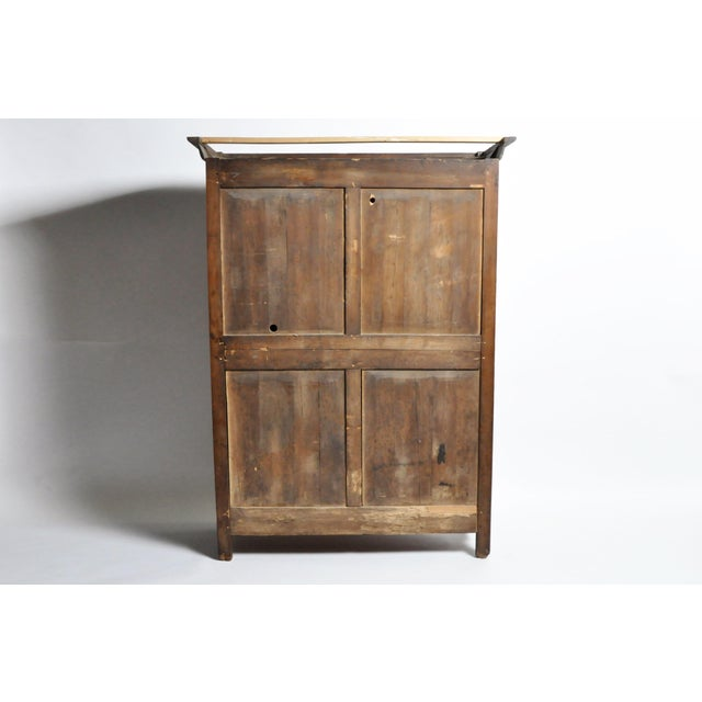 Handsome walnut armoire from France, c. 1880. Brass door hardware is original. Drawers and interior shelf are new...