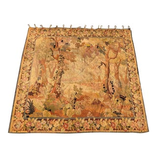 Hand Woven French Tapestry, Circa 1890 For Sale