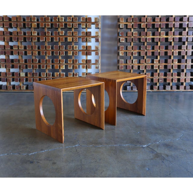 1960s Peter Hvidt for Richard Nissen Cube Nesting Tables - a Pair For Sale - Image 12 of 12