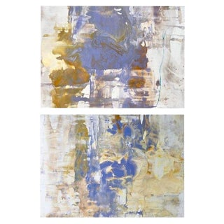 "2018 Abstract ""Elixer"" Polymer on Panel Diptych Paintings by Ryan Fugate - Set of 2 For Sale"