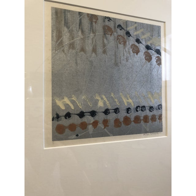 1970s Syd Kramer Monotype Abstract Prints - a Pair For Sale - Image 5 of 11
