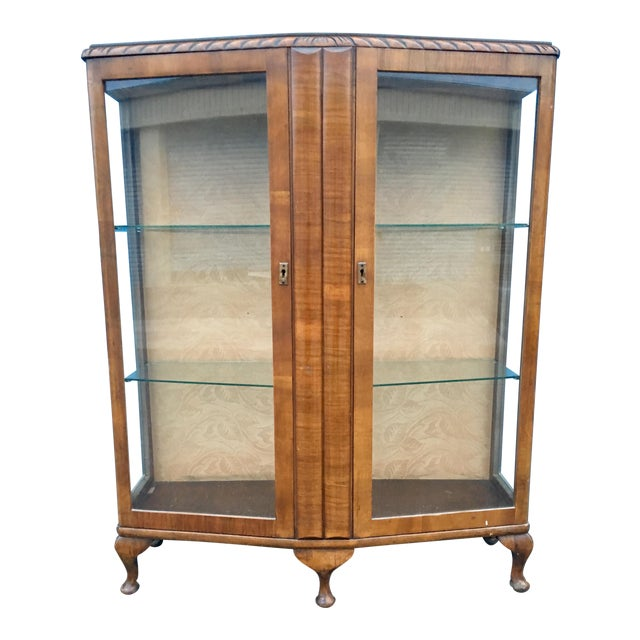 1940's French Provincial Display Cabinet For Sale