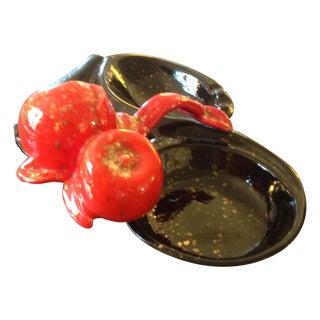 Mid-Century Cherry Ashtray Jewelry Tray For Sale