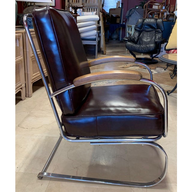 Mid-Century Modern Kem Weber Style Spring Lounge Chair For Sale - Image 3 of 13