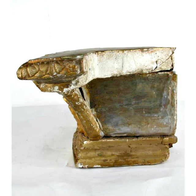 18th Century French Louis XVI Period Carved Giltwood Alter Pedestal For Sale - Image 9 of 10