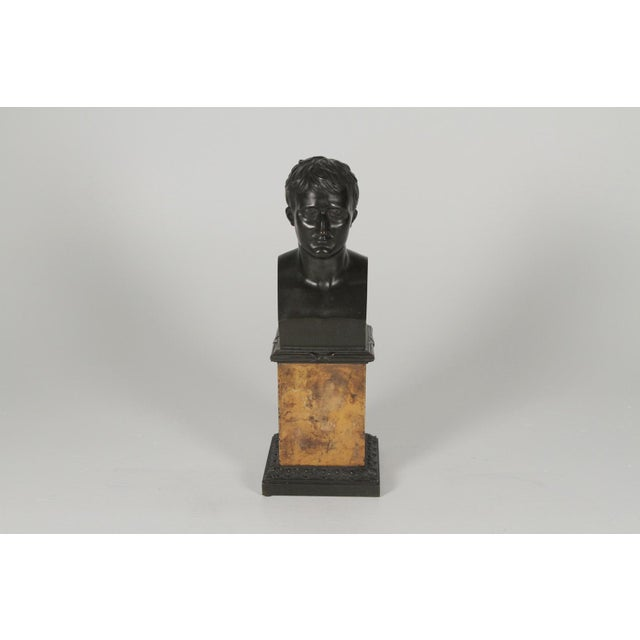 Bronze 1900's Traditional Bronze Bust on a Marble Base For Sale - Image 7 of 10