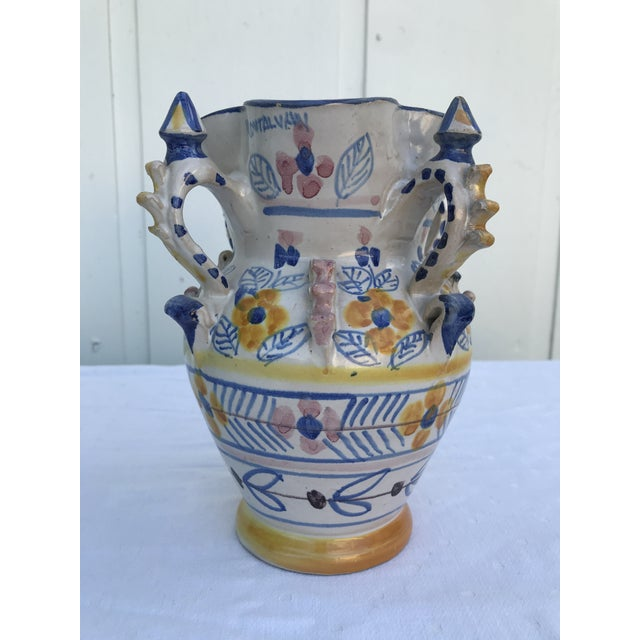 Spanish Montalvan Ceramic Vases - a Pair For Sale - Image 3 of 13