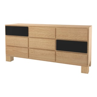 Contemporary 102 Storage in Oak and Black by Orphan Work, 2020 For Sale