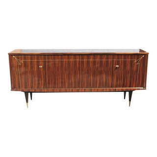 1940s Vintage French Macassar Ebony Sideboard or Buffet For Sale