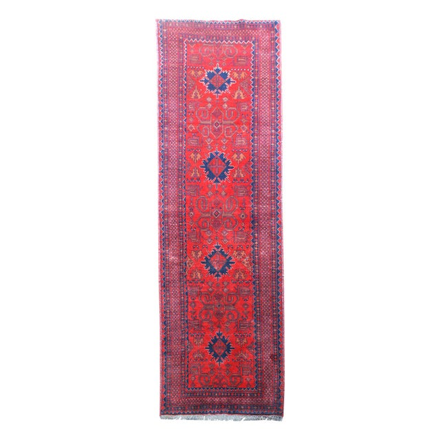 Textile Vintage 20th Century Rust Colored Runner - 2′6″ × 9′7″ For Sale - Image 7 of 7