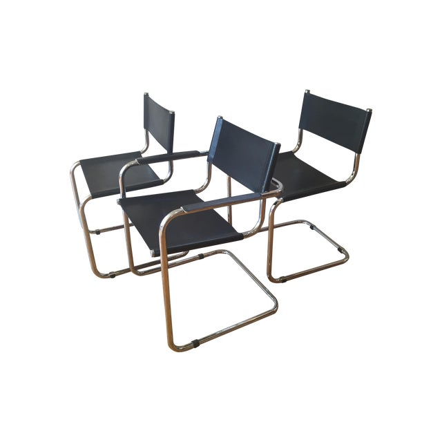 Vintage Cantilever Dining Chairs - 3 - Image 1 of 4