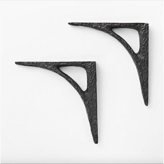 Modern Cast Iron Black Shelf Brackets - Set of 6 - Image 3 of 11