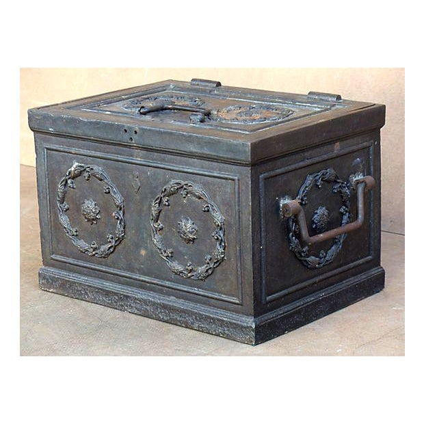 Antique Iron Safe For Sale - Image 4 of 10
