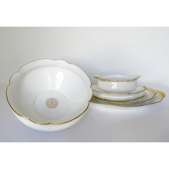 1930s Vintage BMdeM, L. Strauss & Sons for Limoges Gilt Medallion Dinnerware - 60 Pieces For Sale - Image 5 of 13