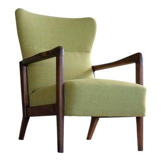Soren Hansen Low-Back Open Armchair for Fritz Hansen Danish, Midcentury For Sale