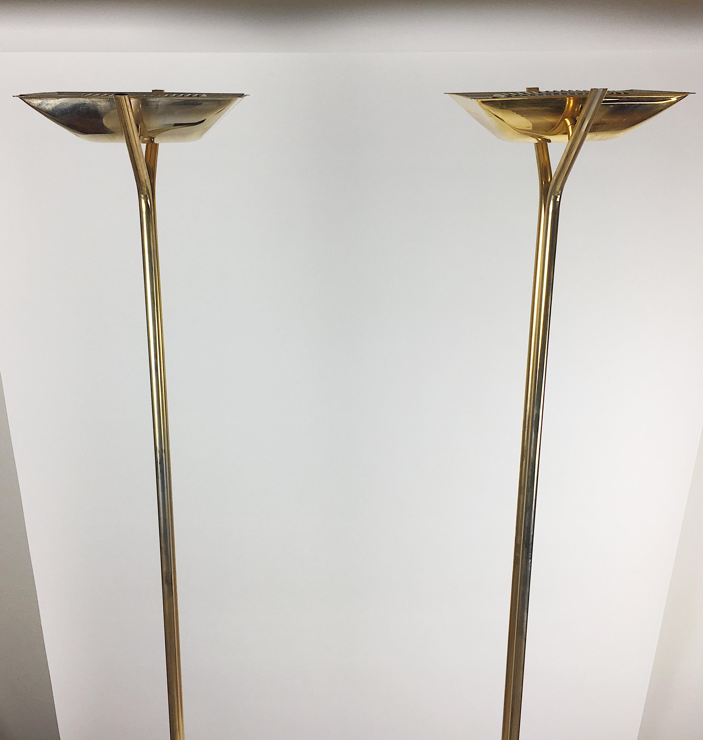 Relco Italian Torchiere Lamps   A Pair   Image 4 Of 9