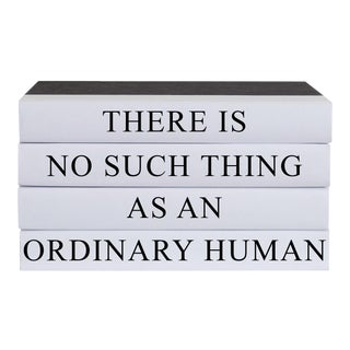 Ordinary Human Quote Book Stack - 4 Pieces For Sale