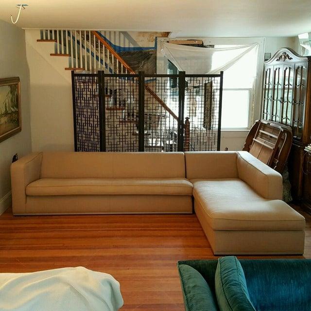 Antonio Citterio for B&b Italia Sectional Sofa & Large Ottoman For Sale - Image 12 of 13