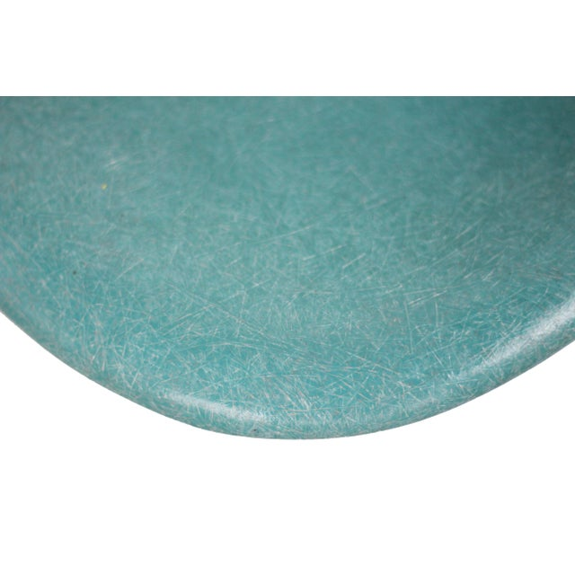 Fiberglass Turquoise Herman Miller Fiberglass Eames Shell Chair For Sale - Image 7 of 9