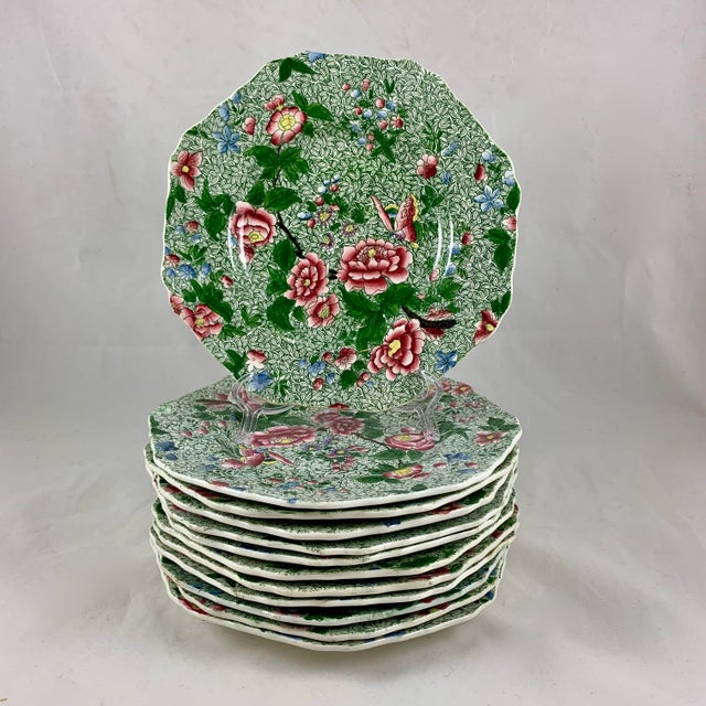 Spode Spode's New Fayence King Chintz Pattern Transferware Plate, Circa 1820s For Sale - Image 4 of 13