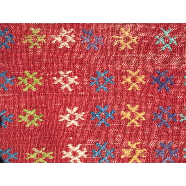 Vintage Turkish Kilim Rug - 3′ × 3′8″ - Image 6 of 8