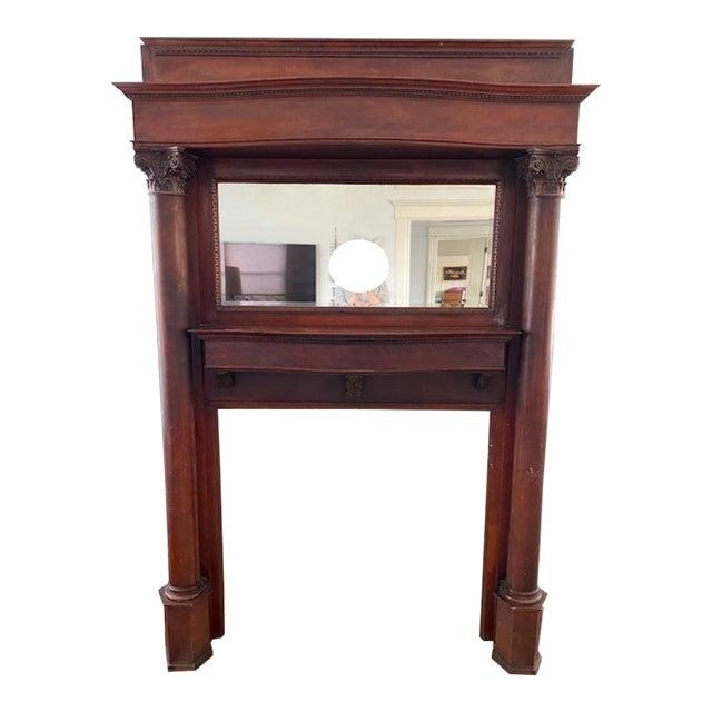 Victorian Fireplace Mantelpiece And Mirror Chairish