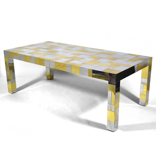 Mid-Century Modern Paul Evans Cityscape Dining Table For Sale - Image 3 of 10