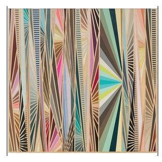 2010s Original Abstract Hard Edge Op Art Acrylic on Panel For Sale