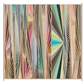 Contemporary Op Art Acrylic on Panel For Sale