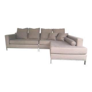 B&B Italia Style Modern 2 Piece Sectional Sofa