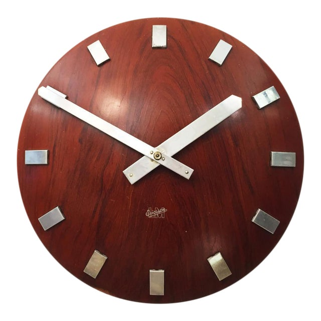 Mid-Century Wall Clock by LM Ericsson, 1962 For Sale