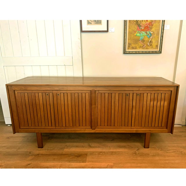 1960s Teak Norwegian Credenza With Key For Sale - Image 13 of 13