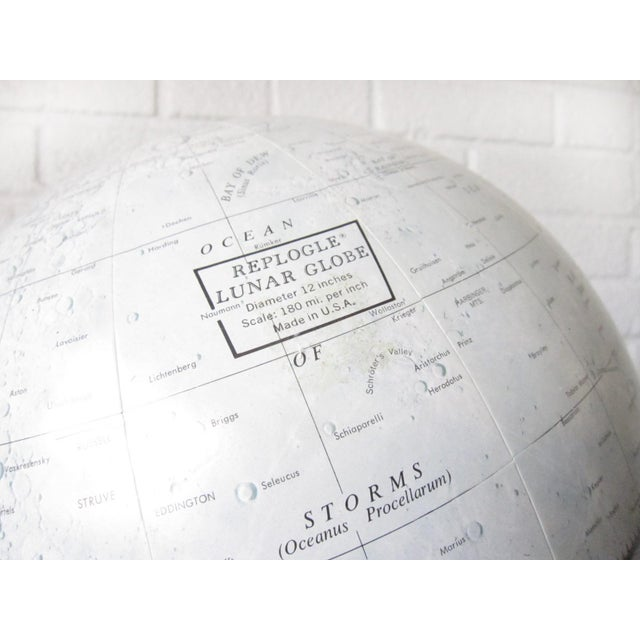 Industrial Vintage Replogle Mid-Century Lunar Moon Globe For Sale - Image 3 of 10