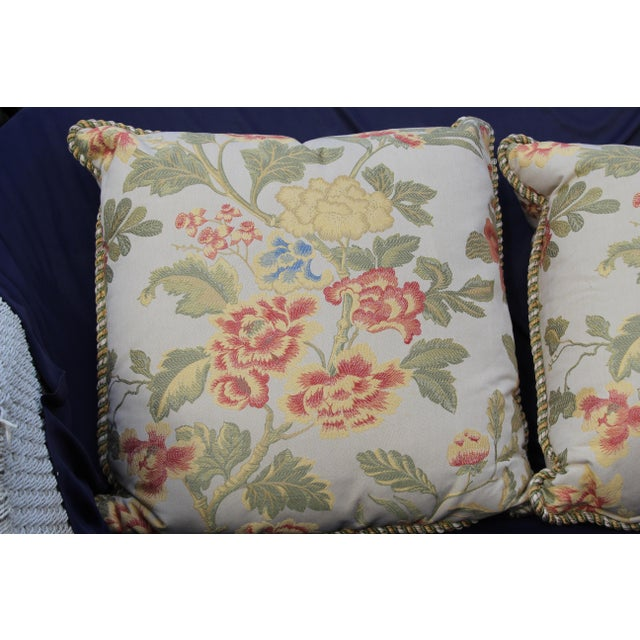 Pr. Of Possible Italian Scalamandre Down Filled Pillows For Sale - Image 9 of 13
