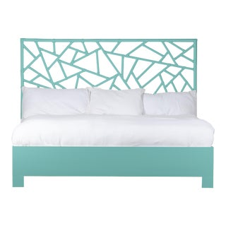 Tiffany Bed King - Turquoise For Sale
