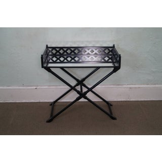 Ebonized Folding Tray Top Serving Table Preview