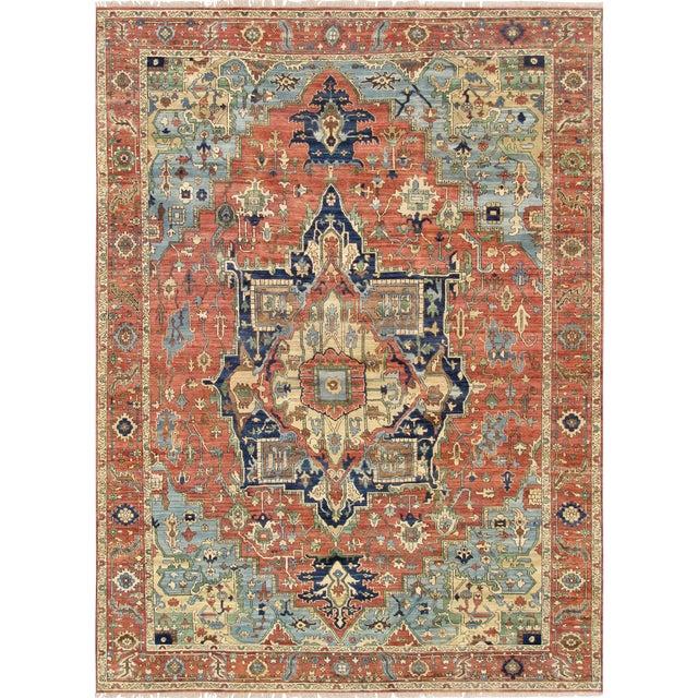 "Pasargad Serapi Lamb's Wool Area Rug - 8'11"" X 11'11"" - Image 1 of 4"