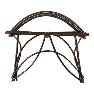 Vintage Adirondack Twig Wall Shelf