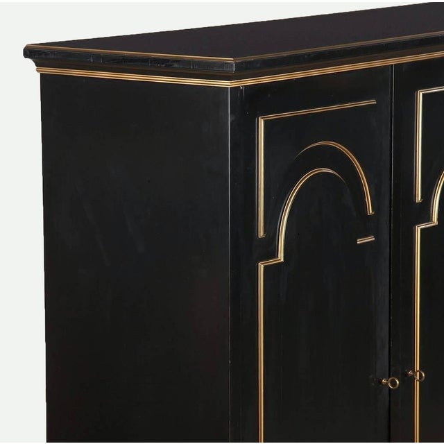 Metal Neoclassical Maurice Hirsch Cabinet, 1950s For Sale - Image 7 of 8