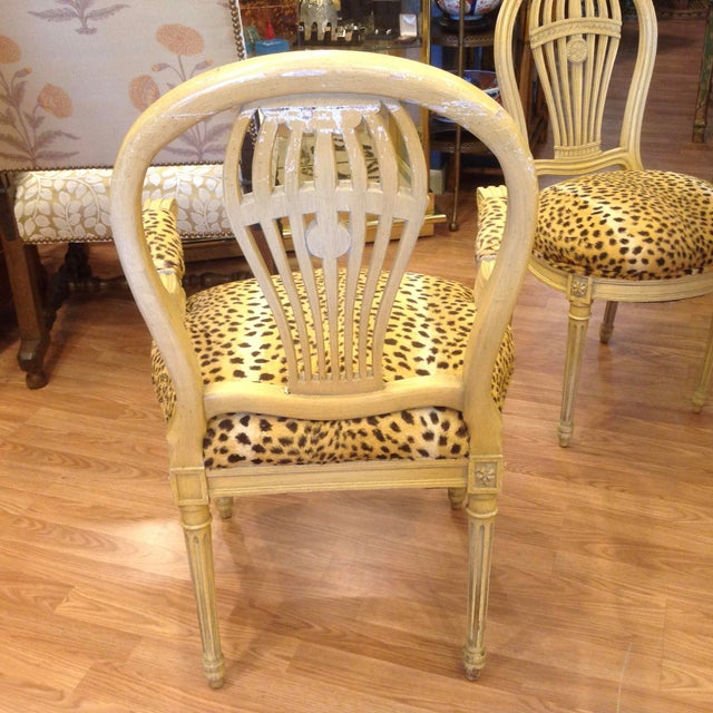 Set of 4 Jansen Style Balloon Back Chairs For Sale - Image 10 of 12