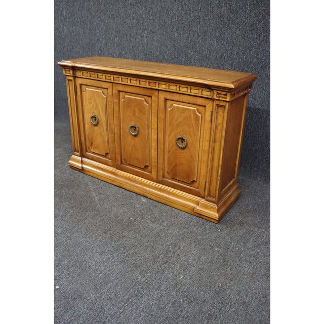 Mid 20th Century Italian Style Fruitwood Credenza For Sale - Image 5 of 9