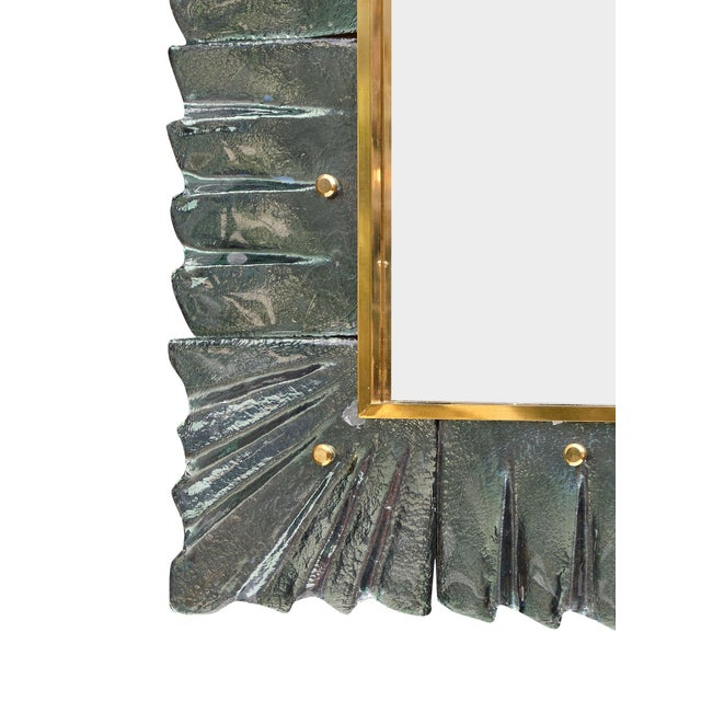 Murano Glass Aqua Mirrors For Sale In Austin - Image 6 of 10