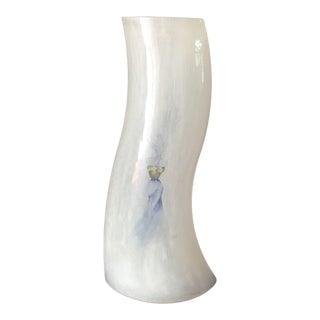 """Vintage Kosta Boda """"Catwalk"""" Series Wave Vase, Etched Signature by Artist For Sale"""