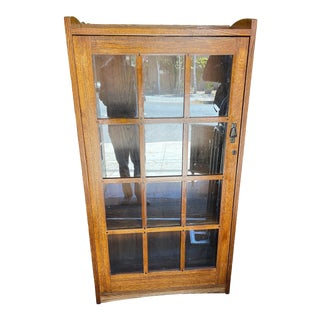 Oak Arts & Crafts Style Bookcasse For Sale