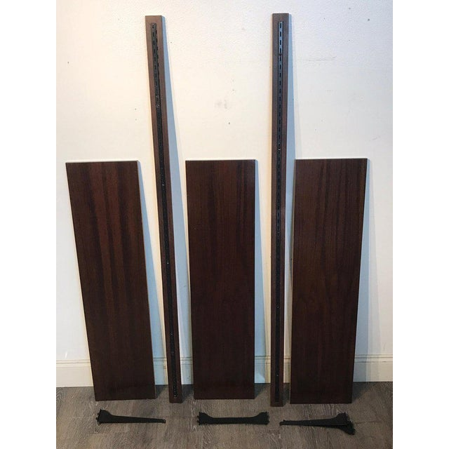 Danish Modern Rosewood Adjustable Shelves For Sale - Image 9 of 12