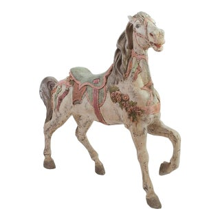 Antique Hand-Painted Carousel Pony For Sale