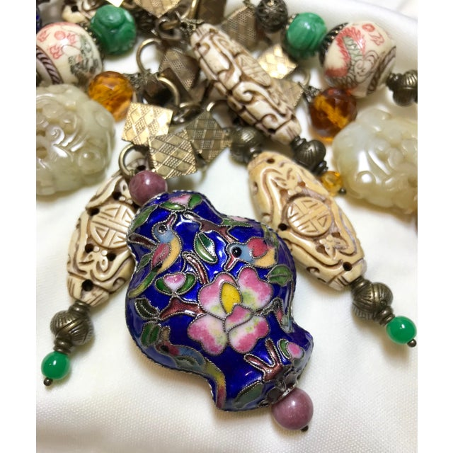 Vintage Chinese Bead and Book Chain Necklace For Sale In Los Angeles - Image 6 of 7